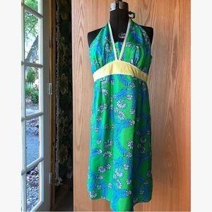 Lilly Pulitzer Sz 10 Silk Halter Dress